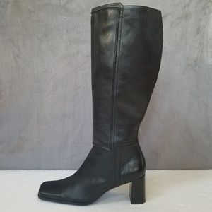 Nine & Co. Black Genuine Leather Boots